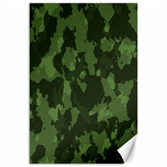 Camouflage Green Army Texture Canvas 24  X 36  by BangZart