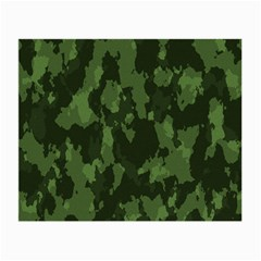 Camouflage Green Army Texture Small Glasses Cloth (2 Side) by BangZart