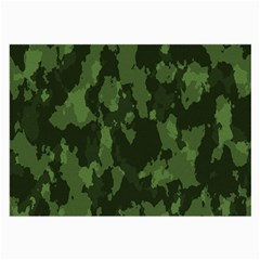 Camouflage Green Army Texture Large Glasses Cloth by BangZart