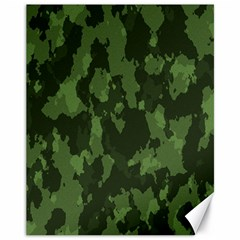 Camouflage Green Army Texture Canvas 11  X 14   by BangZart
