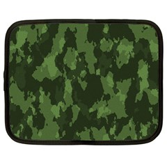 Camouflage Green Army Texture Netbook Case (large) by BangZart