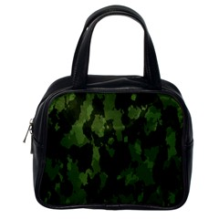 Camouflage Green Army Texture Classic Handbags (one Side) by BangZart