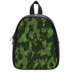 Camouflage Green Army Texture School Bags (small)  by BangZart