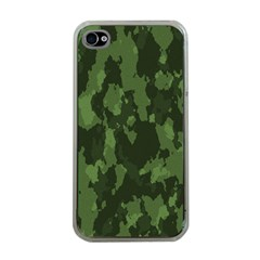 Camouflage Green Army Texture Apple Iphone 4 Case (clear) by BangZart