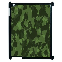 Camouflage Green Army Texture Apple Ipad 2 Case (black) by BangZart