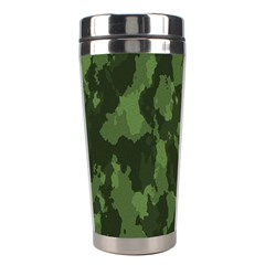 Camouflage Green Army Texture Stainless Steel Travel Tumblers by BangZart