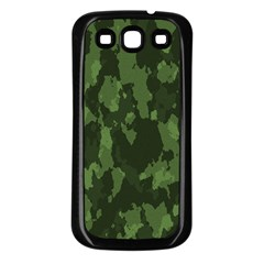 Camouflage Green Army Texture Samsung Galaxy S3 Back Case (black) by BangZart
