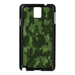 Camouflage Green Army Texture Samsung Galaxy Note 3 N9005 Case (black) by BangZart