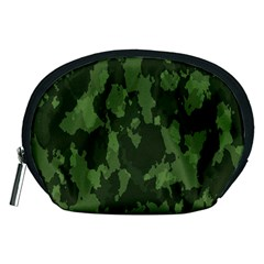 Camouflage Green Army Texture Accessory Pouches (medium)  by BangZart