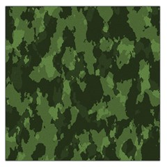 Camouflage Green Army Texture Large Satin Scarf (square) by BangZart
