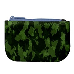 Camouflage Green Army Texture Large Coin Purse by BangZart
