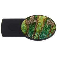 Chameleon Skin Texture Usb Flash Drive Oval (2 Gb) by BangZart
