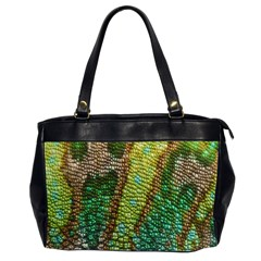 Chameleon Skin Texture Office Handbags (2 Sides)  by BangZart