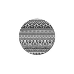 Aztec Pattern Design Golf Ball Marker (10 Pack) by BangZart