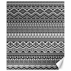Aztec Pattern Design Canvas 8  X 10  by BangZart