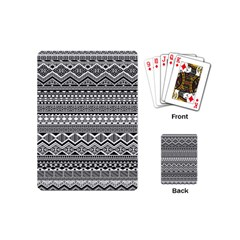 Aztec Pattern Design Playing Cards (mini)  by BangZart