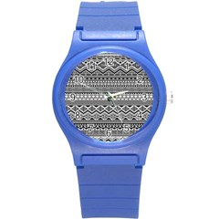 Aztec Pattern Design Round Plastic Sport Watch (s) by BangZart