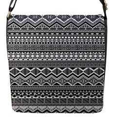 Aztec Pattern Design Flap Messenger Bag (s)