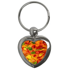 Leaves Texture Key Chains (heart)  by BangZart