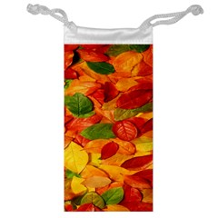 Leaves Texture Jewelry Bag by BangZart