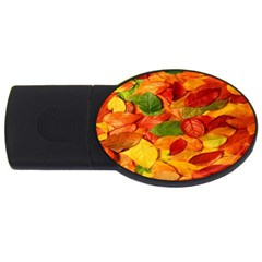 Leaves Texture Usb Flash Drive Oval (4 Gb) by BangZart
