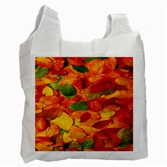 Leaves Texture Recycle Bag (one Side)