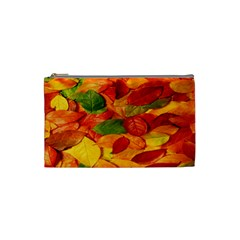 Leaves Texture Cosmetic Bag (small)  by BangZart