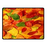 Leaves Texture Fleece Blanket (Small) 50 x40 Blanket Front