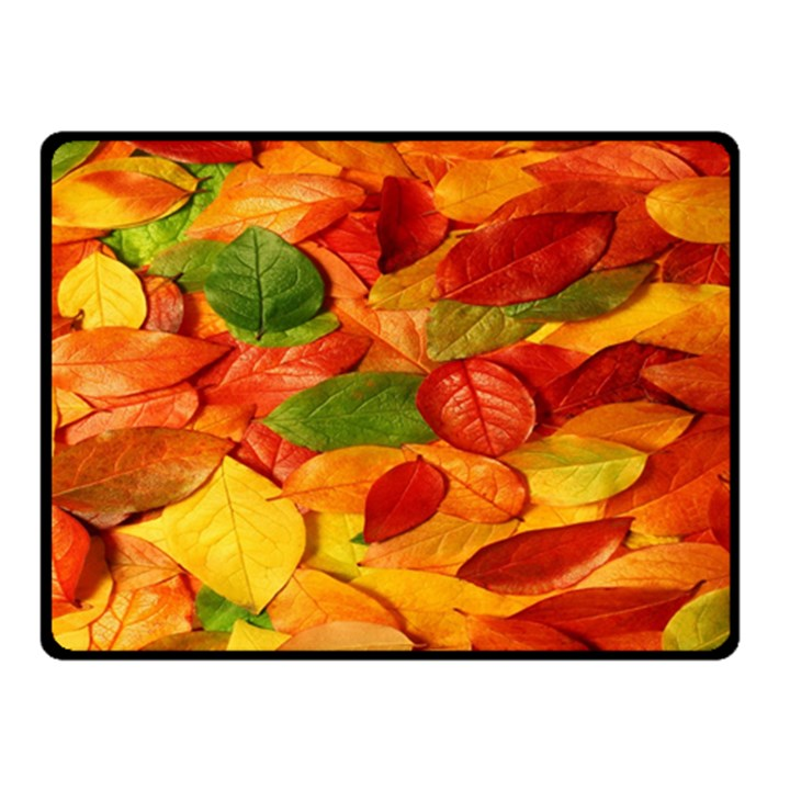 Leaves Texture Fleece Blanket (Small)