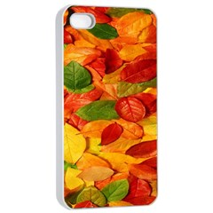 Leaves Texture Apple Iphone 4/4s Seamless Case (white) by BangZart