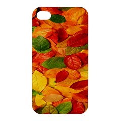 Leaves Texture Apple Iphone 4/4s Premium Hardshell Case by BangZart