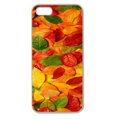 Leaves Texture Apple Seamless Iphone 5 Case (clear) by BangZart
