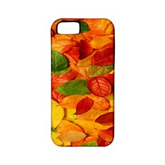 Leaves Texture Apple Iphone 5 Classic Hardshell Case (pc+silicone) by BangZart