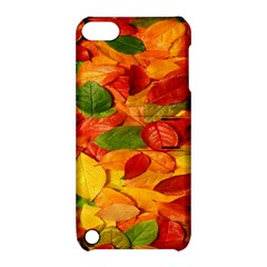 Leaves Texture Apple Ipod Touch 5 Hardshell Case With Stand by BangZart