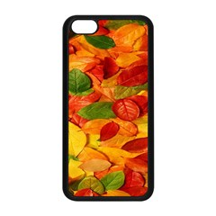 Leaves Texture Apple Iphone 5c Seamless Case (black) by BangZart