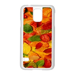 Leaves Texture Samsung Galaxy S5 Case (white) by BangZart