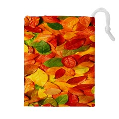 Leaves Texture Drawstring Pouches (extra Large) by BangZart
