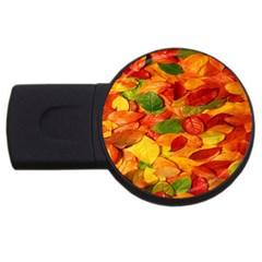 Leaves Texture Usb Flash Drive Round (4 Gb) by BangZart