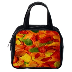 Leaves Texture Classic Handbags (one Side) by BangZart