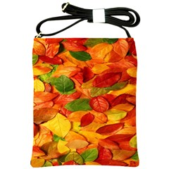 Leaves Texture Shoulder Sling Bags by BangZart