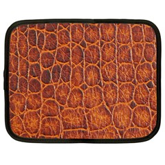 Crocodile Skin Texture Netbook Case (large) by BangZart