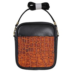 Crocodile Skin Texture Girls Sling Bags by BangZart