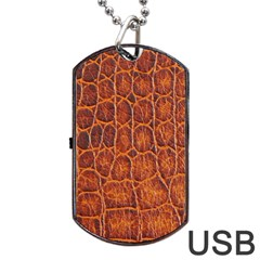 Crocodile Skin Texture Dog Tag Usb Flash (one Side) by BangZart