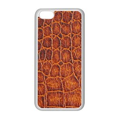 Crocodile Skin Texture Apple Iphone 5c Seamless Case (white) by BangZart