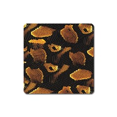 Gold Snake Skin Square Magnet by BangZart