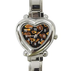 Gold Snake Skin Heart Italian Charm Watch by BangZart
