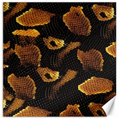 Gold Snake Skin Canvas 16  X 16   by BangZart