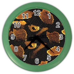 Gold Snake Skin Color Wall Clocks by BangZart