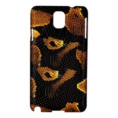 Gold Snake Skin Samsung Galaxy Note 3 N9005 Hardshell Case by BangZart
