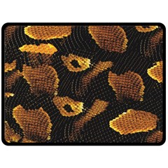 Gold Snake Skin Double Sided Fleece Blanket (large)  by BangZart